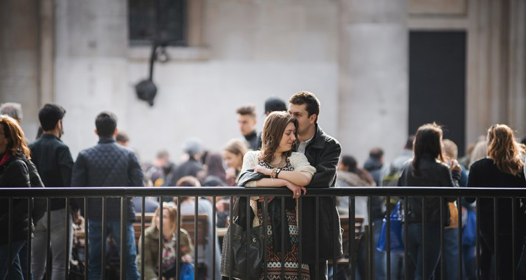 Jack & Kirstie pre wedding shoot Covent Garden